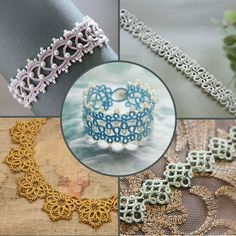 Set of 5 Tatting Lace Patterns