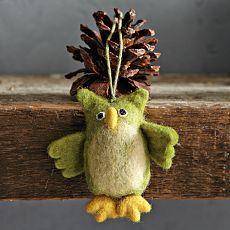 Felt Owl Ornaments     from west elm...