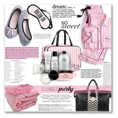 """Sharing secrets"" by mood-chic ❤ liked on Polyvore featuring Eddie Harrop, Victoria's Secret, Make, Bobbi Brown Cosmetics, philosophy, WALL, Balmain and slumberparty"