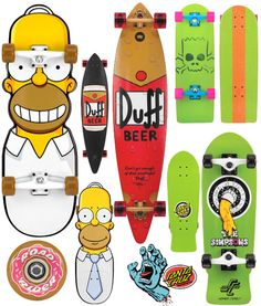 Longboards Santa Cruz: The Simpsons Saga