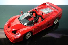 Bburago 1995 Ferrari F50 Convertible 1 18 Scale Diecast Model Car Used No Box | eBay #oldtoysandcollectables #modelcars #dreamcars