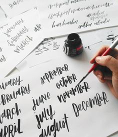 Hand Lettering and Design by Positive Prints Studios | Modern Calligraphy | Brush Lettering
