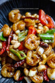 Kung Pao Shrimp Kung Pao Prawn Kung Pao Shrimp Kung Pao Prawn Kung Pao Shrimp Developed From Traditional Chinese Kung Pao Chicken Has A Spicy Yet Slightly Sweet Taste Kung Pao Shrimp Chinasichuanfood Com Chinese Food Recipes, Thai Food Recipes, Best Chinese Food, Authentic Chinese Recipes, Seafood Recipes, Asian Recipes, Salmon Recipes, Beef Recipes, Cooking Recipes