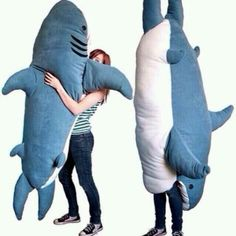 It's a fluffy shark. That you wear. Over your entire body.