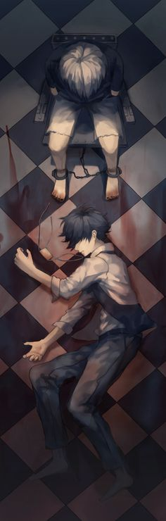 """tokyo ghoul."" I love the depictions of him in this picture."