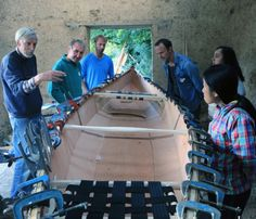 I helped teach last weekend the Canoe making course with Steve...