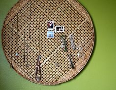 Basket Lid to Jewelry Holder!
