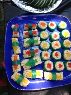 candy sushi... Thanks for the great idea Danielle!
