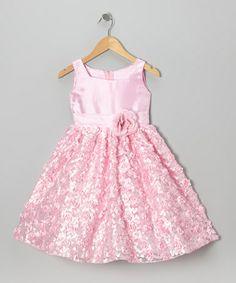 Another great find on #zulily! Pastel Pink Flower Sash Dress - Toddler & Girls #zulilyfinds