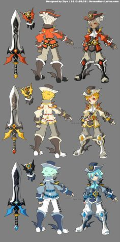 LOVE this persons character designs!! Go check them out and support them!! DragonNest Costume design-Warrior by ZiyoLing on DeviantArt