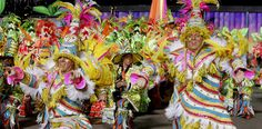 Performance in front of the judges stand at City Hall during the Philadelphia Mummers Parade