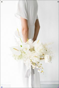 Minimalist modern bride inspiration featuring blue dress and floral accents. Wedding Planning Inspiration, Modern Wedding Inspiration, Wedding Ideas, Modern Wedding Flowers, Floral Wedding, Bridesmaid Bouquet, Wedding Bouquets, Bridesmaids, Wedding Dresses