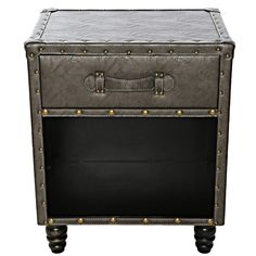 Marceline Faux Leather Side Table