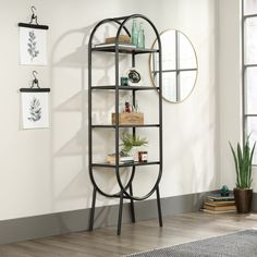 Open Bookcase, Etagere Bookcase, Ladder Bookcase, Open Shelving, Gold Etagere, Bookcases, Metal Bookcase, Wood Ladder, Shelving Ideas