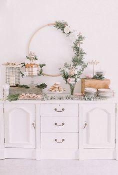 decoracao de cha de bebe mesa de doces em movel