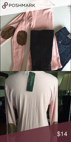 Ralph Lauren Knit Shirt Knit shirt with elbow patched Ralph Lauren Tops Tees - Long Sleeve