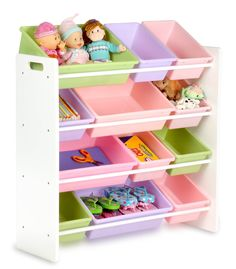 Toy organizer with storage bins -- Makes picking up and picking out toys convenient for parents and children - $57