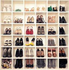 DIY Shoe Storage Wall