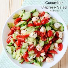 Cucumber Caprese Sal