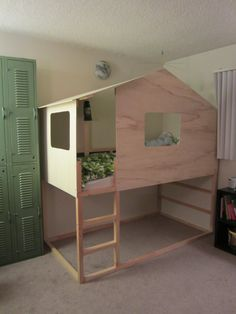 IKEA Hack: Kura Bed into Modern Cabin - I wonder if I've got the skillz to hack this? Only one way to find out ...