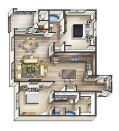 500 sq ft house plans 2 bedrooms - Google Search