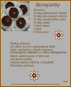 Christmas Candy, Christmas Cookies, Czech Recipes, Blog, Favorite Recipes, Sweet, Anna, Drinks, Places