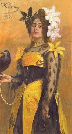Portrait of Lydia Kuznetsova Painting Ilya Repin, Russian Painting, Russian Art, Inspirational Artwork, Art Database, Mellow Yellow, Great Artists, Famous Artists, Art World