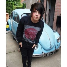 Emo/ Scene Boy <3 ❤ liked on Polyvore featuring boys, people, hair, guys and cute guys