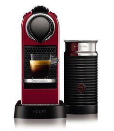 Amazon.de: Krups Nespresso XN7605 Kapselmaschine CitiZ&milk mit Aeroccino, Thermoblock-Heizsystem, 1 L Wasserbehälter, 19 bar, cherry-rot