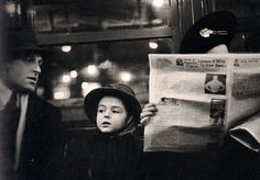 """A subway scene by Walker Evans """"I'm not interested in people in the  portrait sense, in the individual sense. I'm interested in people as  p..."""