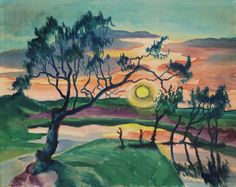Hermann Max Pechstein, Sonnenuntergang (Leba), 1927, Auktion 891 Moderne Kunst, Lot 882 #diebruecke #thebridge