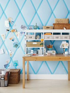 Love the quilted wall to use as a HUGE inspiration board!