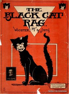 The Black Cat Rag Sheet Music (1905)