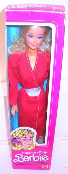 #8074 NRFB Mattel Fashion Play Barbie in Red Foreign Issue #Mattel #Dolls