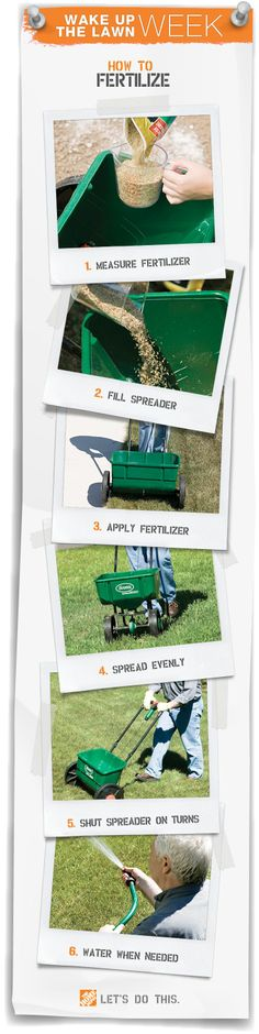Fertilize in Spring: Your lawn needs a good feeding at the start of spring to make roots grow strong. Let us show you how easy fertilizing can be.