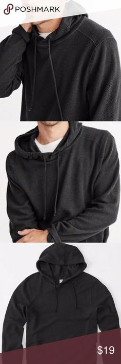 Abercrombie Fitch Men's Charcoal Color Hoodie Lightweight and very comfortable with no logo relax  look Bobble Hoodie from A&F Abercrombie & Fitch Jackets & Coats