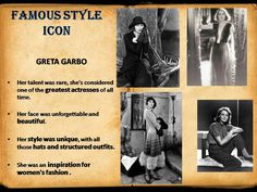 style icon - GRETA GARBO
