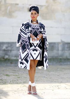 The Best Street Style from Paris Fashion Week Spring 2016 - Essence Xhosa Attire, African Attire, African Wear, African Women, African Dress, African Style, Fashion Week Paris, Classy Outfits, Stylish Outfits