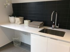 Sink, Laundry, Ideas, Home Decor, Sink Tops, Laundry Room, Vessel Sink, Decoration Home, Laundry Service