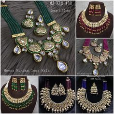 #sets #necklace #earrings #kundan #meenakari #highquality #richlook  #Beautiful #lovely #elegant #festive #wedding #trendy #designer #exclusive #statement #latest #design #ethnic #traditional #modern #indian #divaazfashionjewellery available Grab them fast 😍😍 Inbox for orders & more details plz Or mail at npsales421@gmail.com Festive, Ethnic, Necklaces, Indian, Traditional, Elegant, Detail, Modern, Earrings