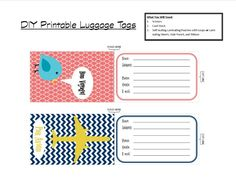 Luggage tags template i was able to print them and cut them down a create your own luggage tags quickly and simply with only a few supplies and a free printable helps identify your luggage in a sea of black bags maxwellsz