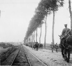 2nd Battalion, Scots Guards approaching Ypres on 14 October 1914