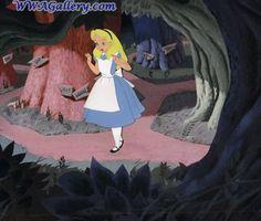 Disney Studios production cel Animation Art production cel of Alice from Alice in Wonderland From Disney Studios