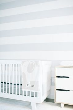 Babyletto Hudson 3-in-1 Convertible Crib in A modern Brooklyn boy's nursery via @100 Layer Cake