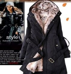 Faux Fur Lined Coat that turns into a light jacket by taking the fur out. It's two coats in one! It's also water resistant making it perfect for wet weather!