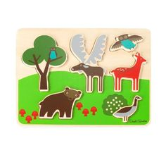 Amazon.com: DwellStudio Wooden Puzzle, Woodland: Baby