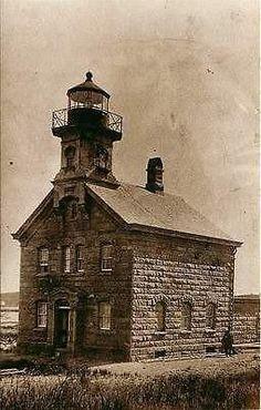 Block Island Rhode Island RI North Lighthouse Collectible Vintage Postcard - Moodys Vintage Postcards - 1