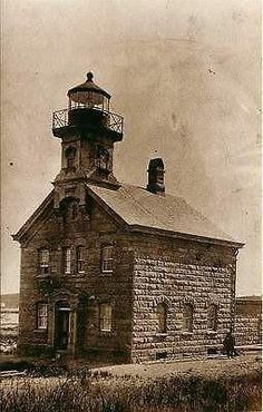 Block Island Rhode Island RI North Lighthouse Collectible Vintage Postcard - Moodys Vintage Postcards - 1