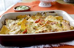 Tacopanne med kylling og chorizopølse Tex Mex, Chorizo, Guacamole, Potato Salad, Nom Nom, Tacos, Potatoes, Mexican, Chicken