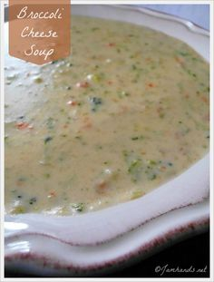 Broccoli Cheese Soup at Jam Hands